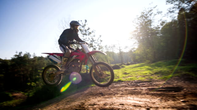 Young male motocross rider video