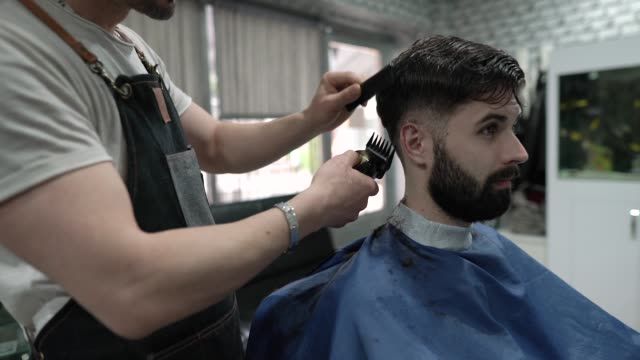 Young Man Getting Short Haircut Stock Video Download Video Clip Now Istock