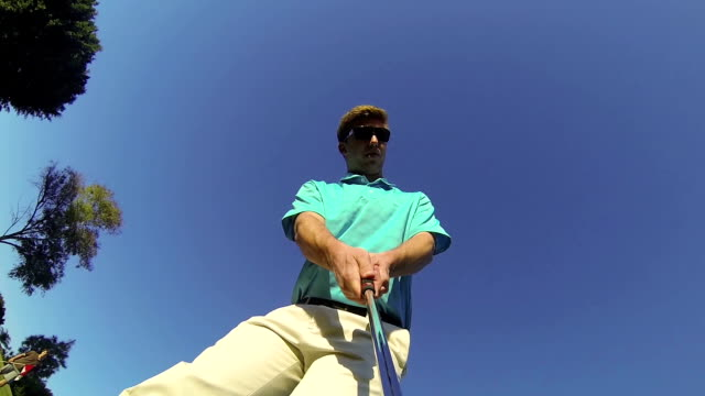 POV Young Man Golfing video