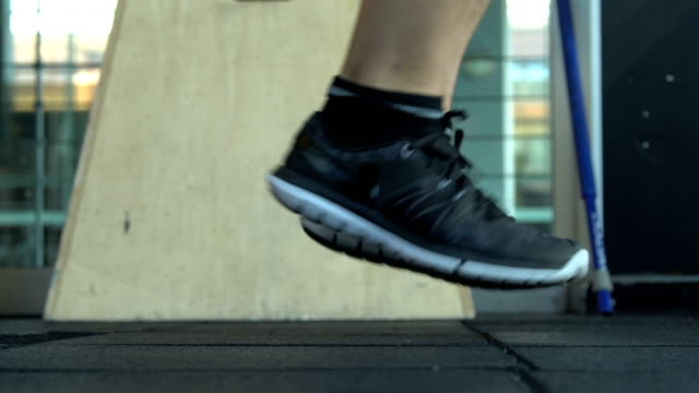 Young Man Jumping Rope in Gym 4K, 29.97P, Real Time daylight savings stock videos & royalty-free footage