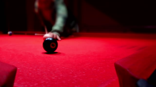 Young man playing billiard (snooker)/Snooker player video
