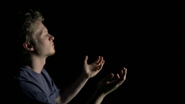 HD Young Man Praying video
