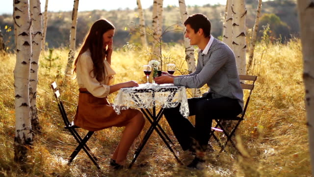 Young Man Proposing Girlfriend Romantic Date video