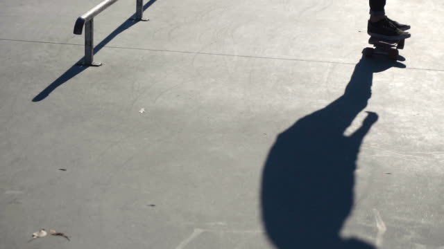 Young man ride a skateboard video
