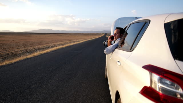 Young man with car trouble video
