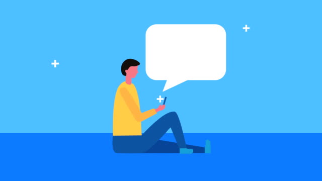 young man with speech bubble young man with speech bubble ,FullHD video animated email icon stock videos & royalty-free footage