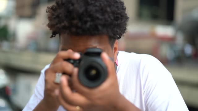Young men taking a picture