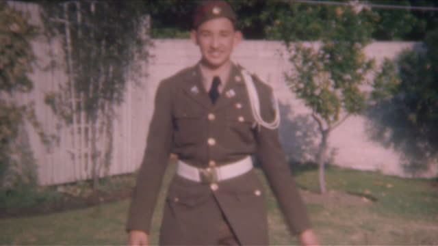 Young Military Cadet 1940's video