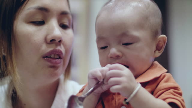 Young Mother and Son video
