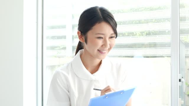 Young nurse woman video