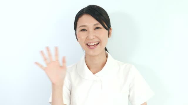 Young nurse woman ビデオ