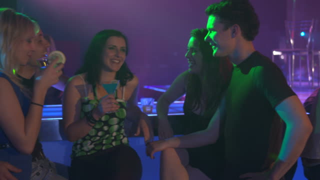HD DOLLY: Young People At The Bar Counter video