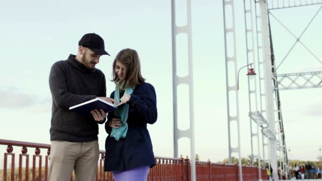 Young people discuss the book at the bridge video