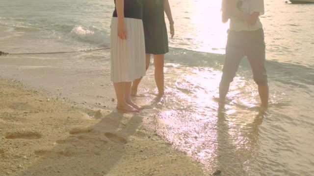 若い人々のビーチです。 ビデオ
