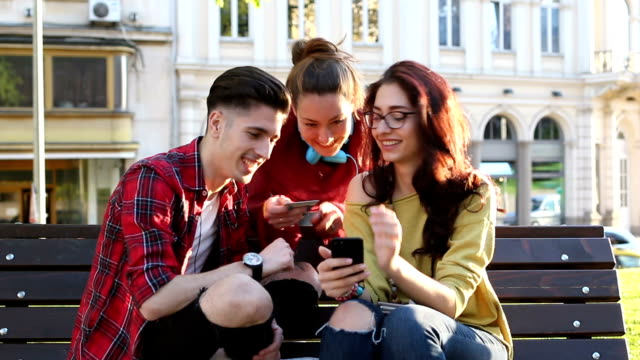 Young people shopping online video