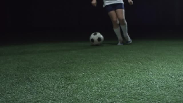 Young Soccer Athlete Dribbling a Ball video