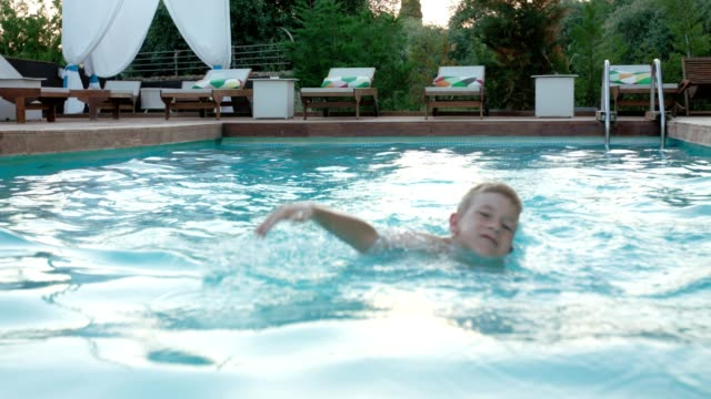 Young swimmer video
