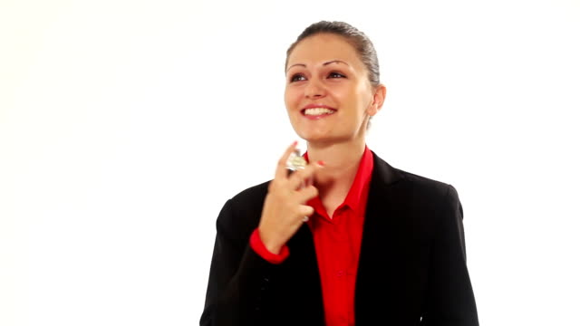 Young Woman applying perfume video