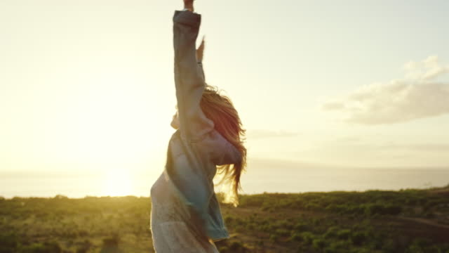 Young Woman at Sunset video