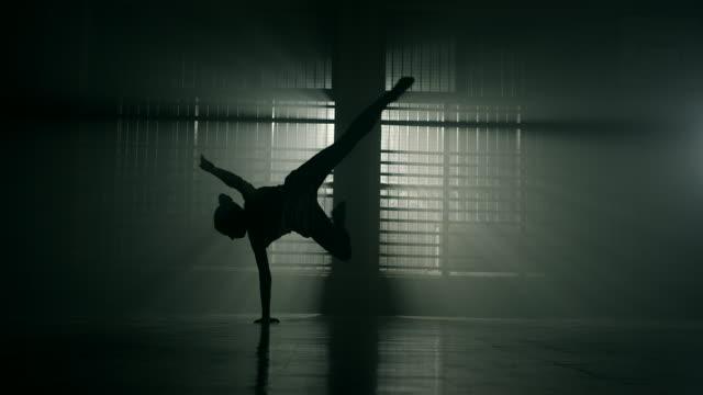 Young woman dancing video