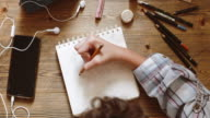 istock Young woman draw on tablet 1179781983