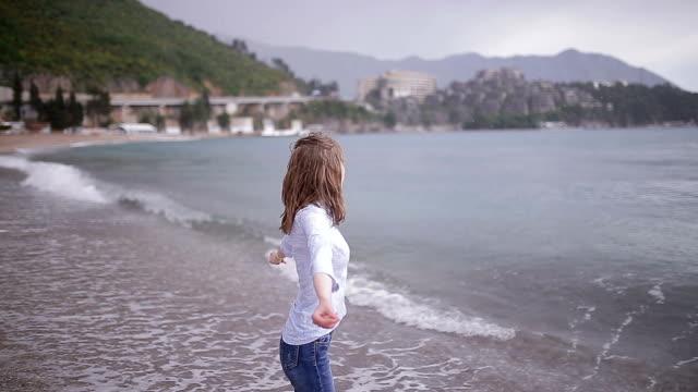 Young woman enjoying beach time