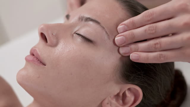 HD: Young Woman Having Relaxing Facial Massage video