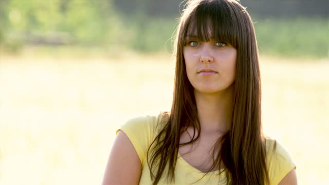 Young Woman in Field video