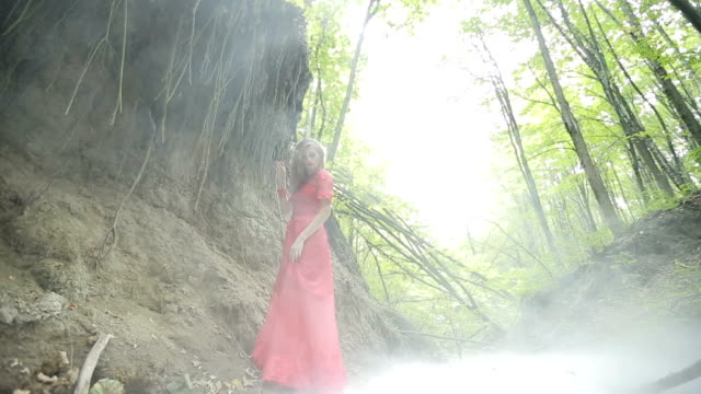 Young Woman In The Mystical Forest video