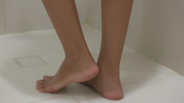 Young woman leg bath video