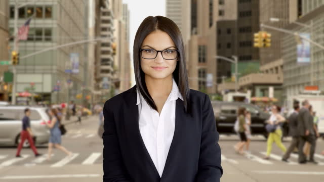 Young Woman Living Modern Lifestyle in the City. Cosmopolitan and Independent Attitude. video