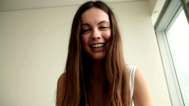 Young woman making video call video