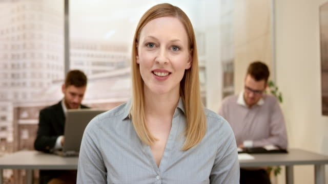 Young woman on a video call with her client video