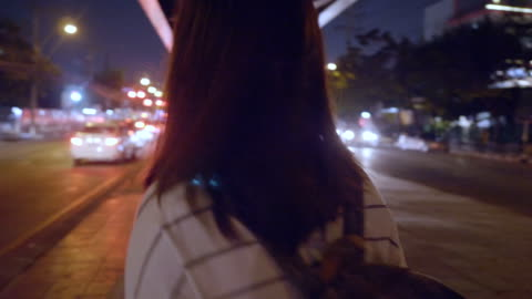 Young woman on the street Commuting fear stock videos & royalty-free footage