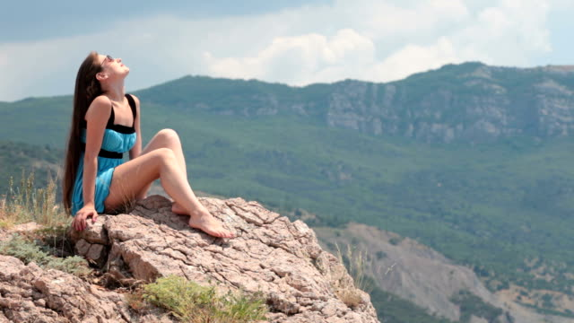Young woman relaxing video