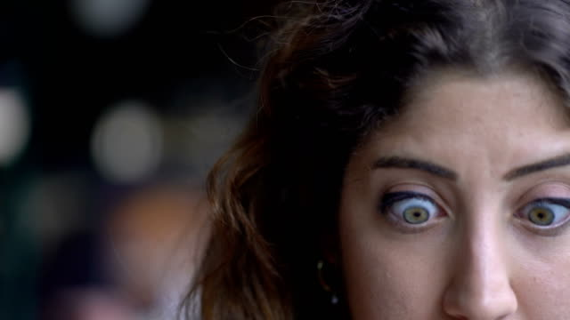 Young Woman shocked about unexpected messages Young Woman shocked about unexpected messages surprise stock videos & royalty-free footage