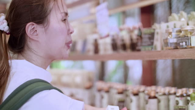 Young Woman Shopping In South East Asia video