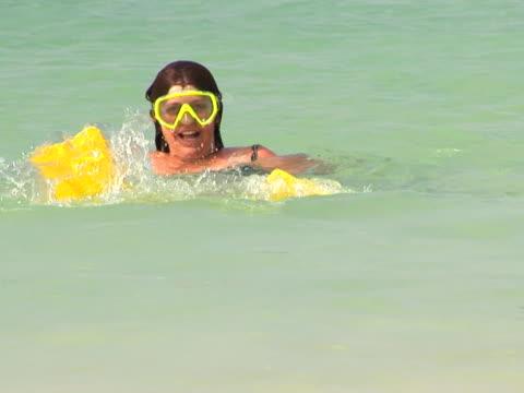 NTSC: Young woman snorkeling video