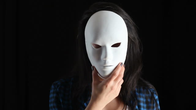 Young Woman Unmask And Showing True Color video