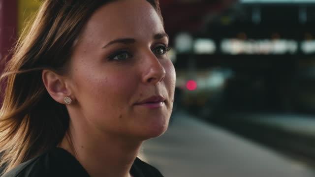 ung kvinna väntar på tåget - waiting for a train sweden bildbanksvideor och videomaterial från bakom kulisserna