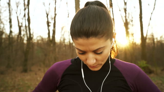 Young woman warming up. video