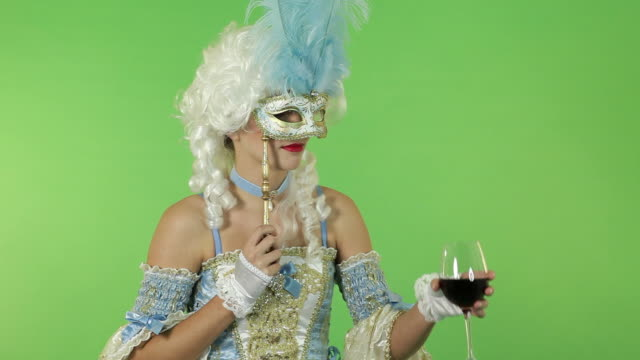 Young Woman with Masquerade Mask video