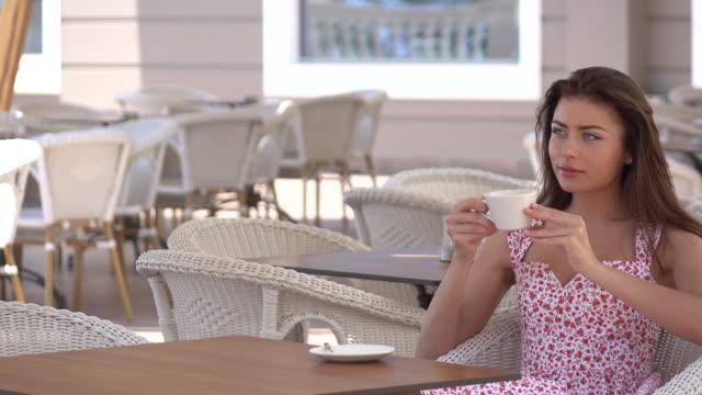 young women enjoying in a resort - terrazza video stock e b–roll