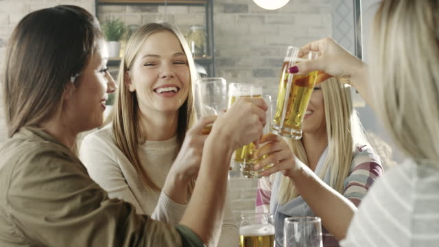 Young women in a bar video
