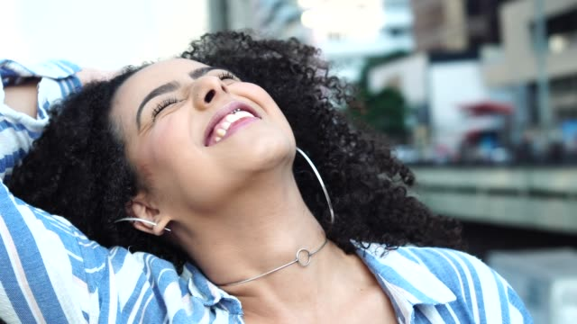 Young Women Portrait Portraits curly hair stock videos & royalty-free footage
