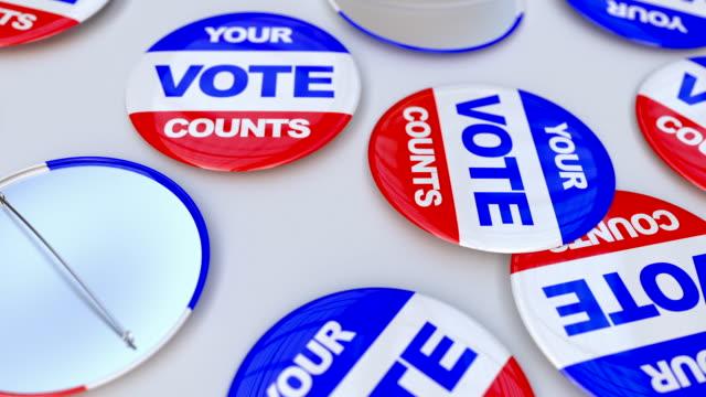 投票数のピン - 選挙点の映像素材/bロール