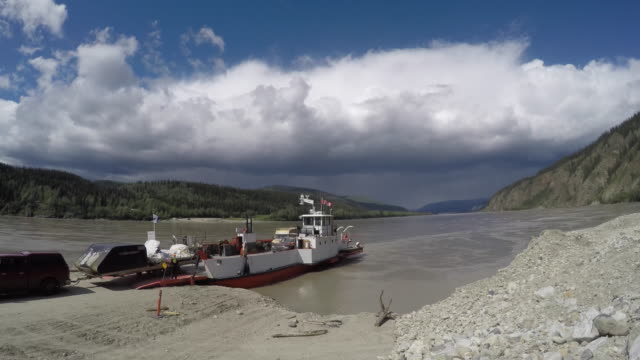Yukon River Ferry Timelapse video