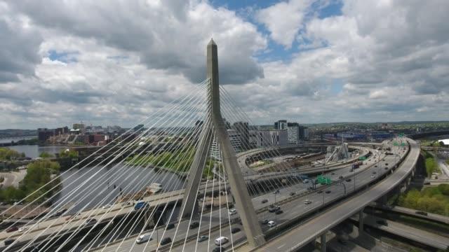 zakim bridge boston ma - massachusetts bildbanksvideor och videomaterial från bakom kulisserna