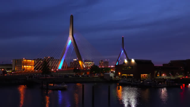 Zakim Bridge in Boston video
