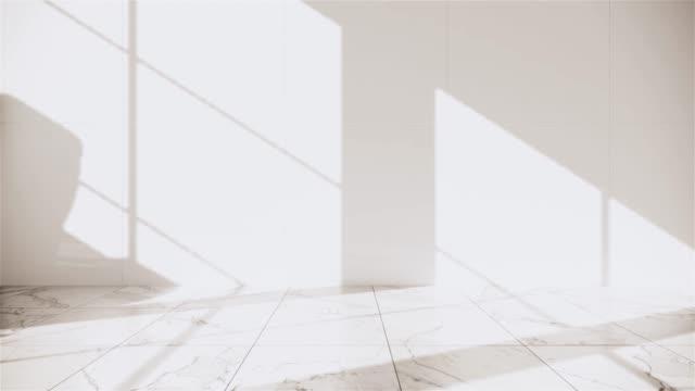 Zen design toilet tiles wall and floor - japanese style. 3D rendering